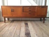 G Plan Fresco retro vintage mid century solid teak long Sideboard credenza