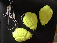 3 ikea bug lights, bulbs included