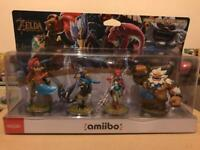 Zelda Breath of The Wild Champions Amiibo 4 Pack