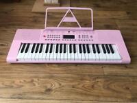 Pink Vangoa VGK4900 Electric Keyboard Hardly Used