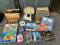 Joblot kids family items , board games, dvd. Projector and more