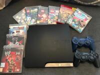 PS3 10 GAMES 2 CONTROLLERS ABD SKYLANDERS