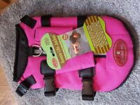 Pink Doggie 'Aussie Life Jacket' Floatation device, brand new tags still attached