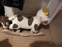 Rocking cow small child rocker