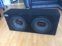 "2 x 12"" Earthquake db-12 street pro subs (NOT Alpine JBL Kicker JL Hifonics Rockford )"