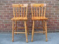pine bar stools 2