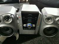 Panasonic Stereo plus speakers and subwoofer