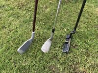 GOLF CLUB CLEARANCE - 5 & 8 IRON and PUTTER - £8
