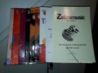 Music Stand with Footrest and 6 Guitar books