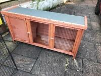 Rabbit hutch and rabbit run