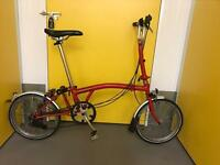 BROMPTON M6L RED IN **GOOD** CONDITION!