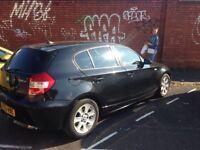 BMW 120 d , black,
