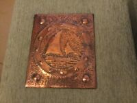 Arts and Crafts copper plaque