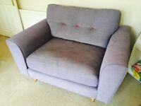 Gorgeous Blue/Grey Cuddle Seat, Arden Range, DFS