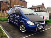 Mercedes Benz Vito camper van 04 plate 180000k Drives perfect bucket seats cooker inside and sink!
