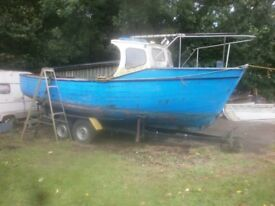 RON BERRY,23FT ANGLING BOAT,TRAILER,PERKINS 4108,DIESEL
