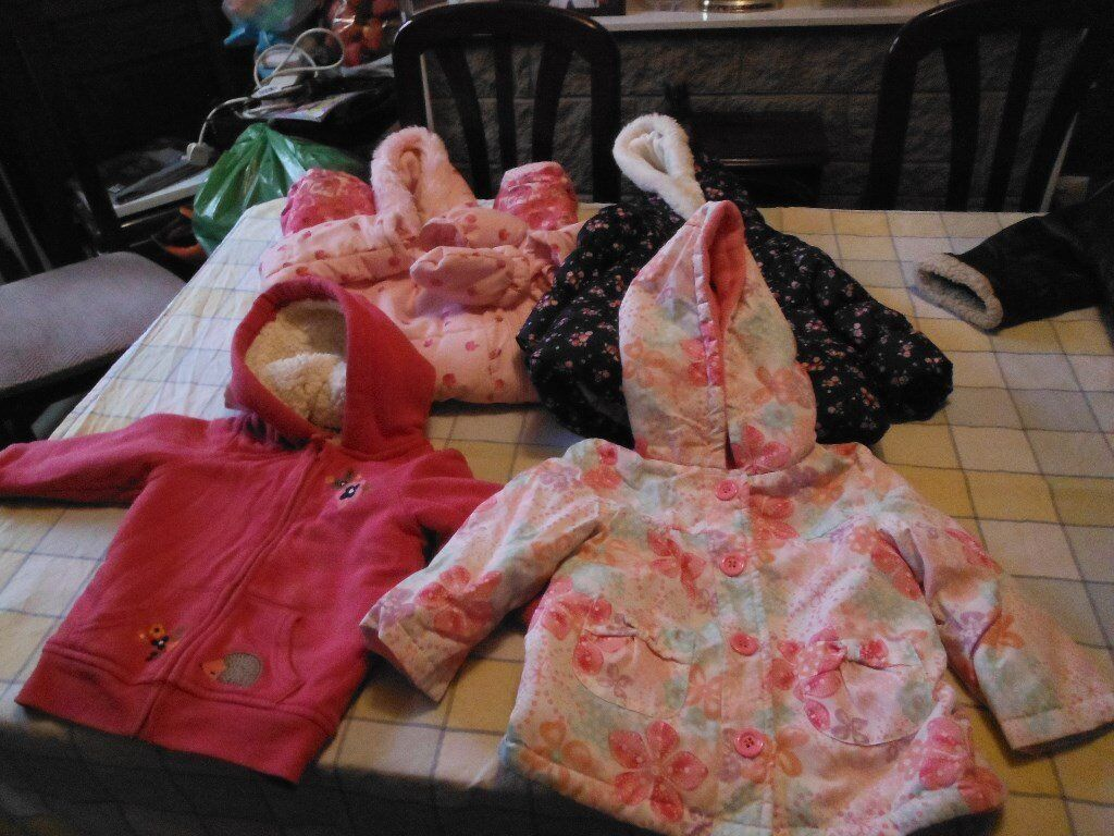 Girls coats and snowsuit, 18-24 months. Pack C