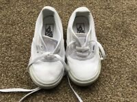 Boys Vans trainers. White. Childrens size UK 7. Excellent condition.
