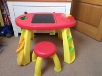 Childrens Table with Chalk Bosard