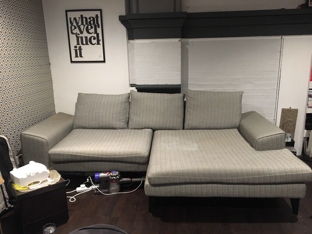 3495f7a7f46 Dfs French Connection Quartz Right Hand Facing Chaise Sofa 4 Seater