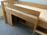 Cabin bed with storage - mattress not included
