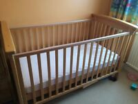 Mothercare Wooden Cot Bed for Baby's and Toddlers