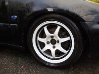 "15"" Calibre Pro 7 Alloy Wheels. 4x100 Honda civic, Mazda mx5, Toyota starlet. Turbo vtec vti"