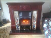 electric fire with surround, good condition, perfect working order