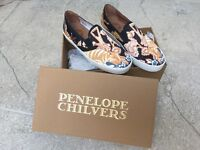 Size 39 Penelope Chilvers pumps in Ramone Botswana Print