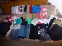 LARGE BUNDLE OF MATERNITY CLOTHES - SIZES 10/12