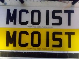 PERSONAL REGISTRATION NUMBER ******MCOIST******** PRIVATE PLATE