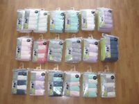 BRAND NEW MARKS & SPENCER LINGERIE COTTON LYCRA FULL BRIEFS 5 PACK SIZE 10 VARIOUS COLOURS £5 ONO