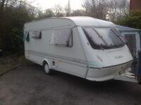 Elddis Hurricane XL Caravan with awning and extras