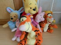 Selection of Winnie the Pooh Soft Toys