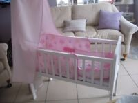 Stunning Mothercare crib with accessories
