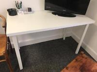 White desk. Ikea.
