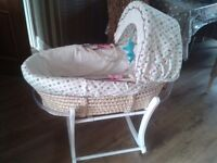 Lollipop lane moses basket with stand