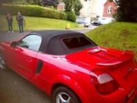 Mr2 roadster 2001 red