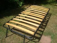 Jay-be folding guest bed. Single. Slatted base with mattress.