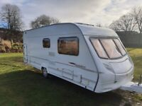 Excellent condition Ace Jubilee 6 berth caravan with full caravan cover and powertouch motor mover