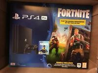 PS4 Pro 1TB + Fortnite Content - New & Sealed