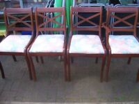 4Dinning Chairs, 1 Chair is a Carver.