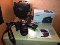 Canon eos 1000d digital camera boxed 10 megapixels plus Lowepro bag