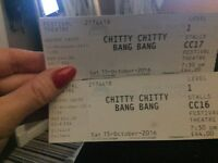 2 X Chitty Chitty Bsng Bang tickets 3rd row Edinburgh Festival Theatre