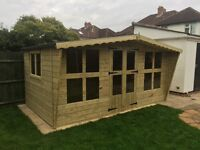 Stunning 14x8 tanalized summer house t&g