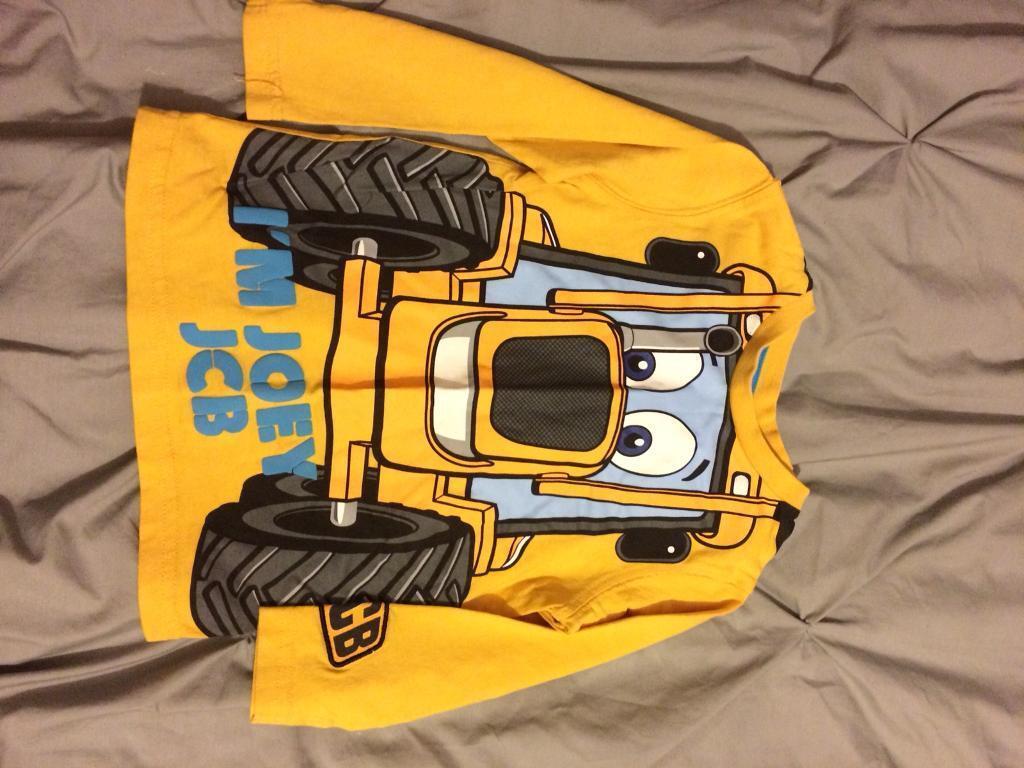2x jcb Long Sleeve t-shirt Age 2-3