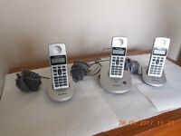 "FOR SALE PANASONIC HOME PHONE, ""THREE UPTAKES"""