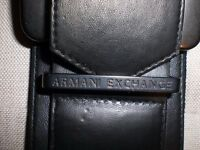 Armani black and silver belt