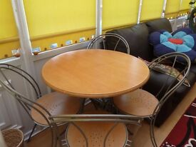 Small table and four chairs