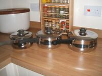 Set of assorted pans
